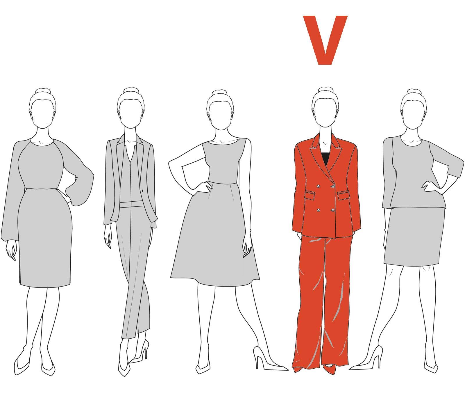 der styles4work figurberater: figurtyp v - styles4work