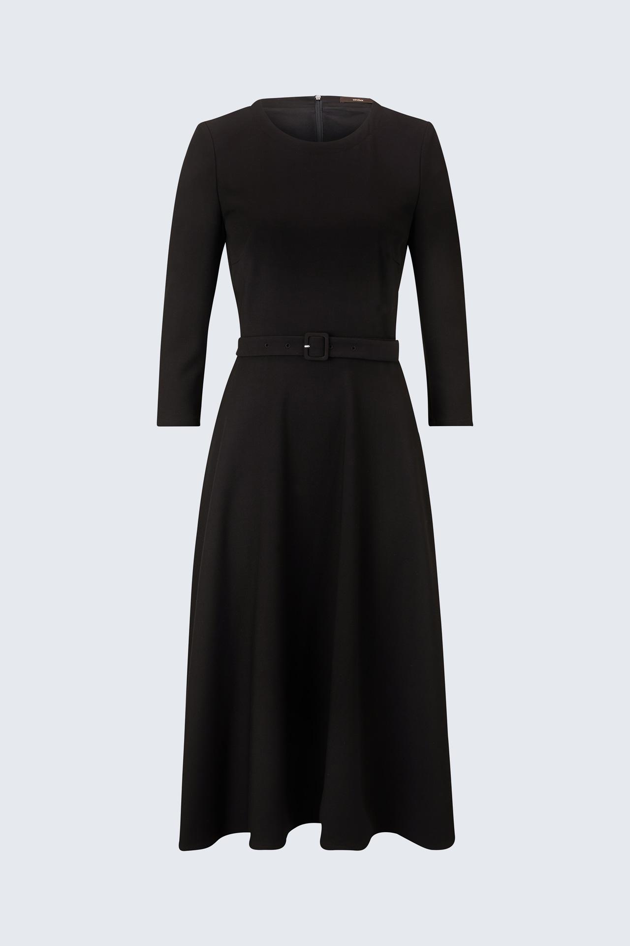 businesskleid mit gürtel in schwarz  styles4work