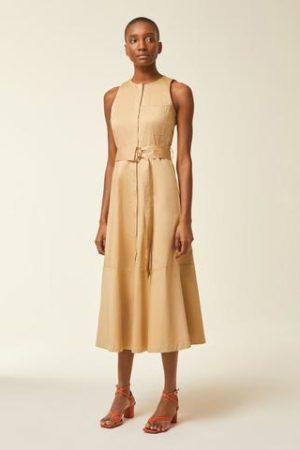 Midi Kleid mit Gürtel