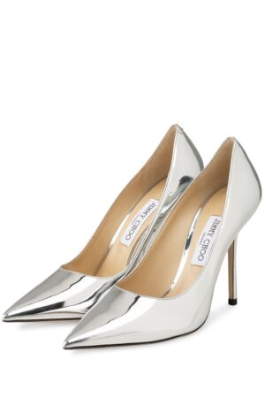 Jimmy Choo Lack-Pumps Love 100 silber